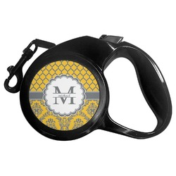Damask & Moroccan Retractable Dog Leash - Multiple Sizes (Personalized)