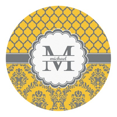 Damask & Moroccan Round Decal (Personalized)
