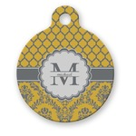 Damask & Moroccan Round Pet Tag (Personalized)