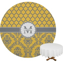 Damask & Moroccan Round Tablecloth (Personalized)