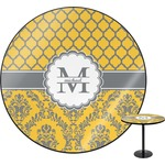 Damask & Moroccan Round Table (Personalized)
