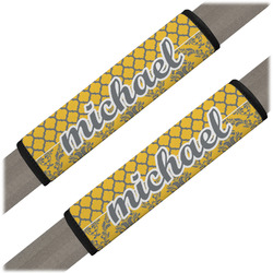 Damask & Moroccan Seat Belt Covers (Set of 2) (Personalized)