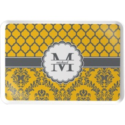Damask & Moroccan Serving Tray (Personalized)