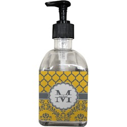 Damask & Moroccan Soap/Lotion Dispenser (Glass) (Personalized)