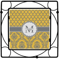 Damask & Moroccan Square Trivet (Personalized)
