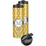 Damask & Moroccan Stainless Steel Skinny Tumbler (Personalized)
