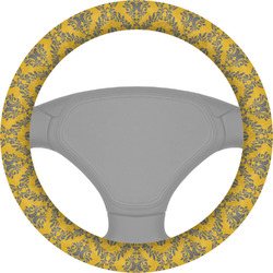 Damask & Moroccan Steering Wheel Cover (Personalized)