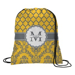 Damask & Moroccan Drawstring Backpack (Personalized)