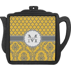 Damask & Moroccan Teapot Trivet (Personalized)