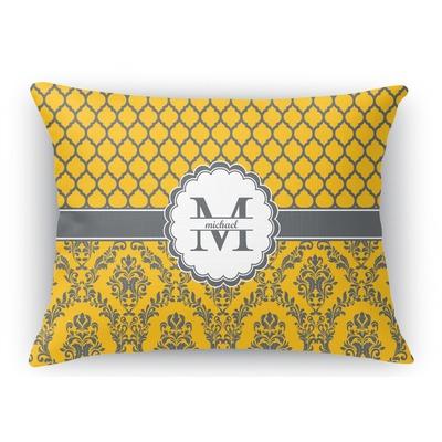 Damask & Moroccan Rectangular Throw Pillow (Personalized) - YouCustomizeIt