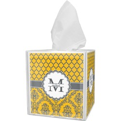 Damask & Moroccan Tissue Box Cover (Personalized)