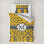 Damask & Moroccan Toddler Bedding w/ Name and Initial