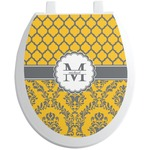 Damask & Moroccan Toilet Seat Decal (Personalized)