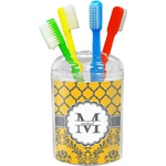 Damask & Moroccan Toothbrush Holder (Personalized)