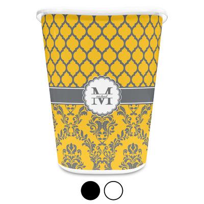 Damask & Moroccan Waste Basket (Personalized)