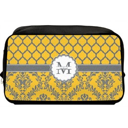 Damask & Moroccan Toiletry Bag / Dopp Kit (Personalized)