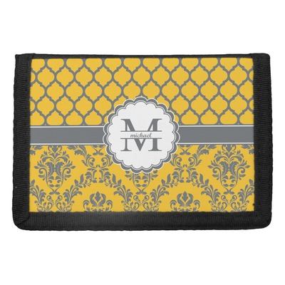 Damask & Moroccan Trifold Wallet (Personalized)