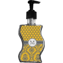 Damask & Moroccan Wave Bottle Soap / Lotion Dispenser (Personalized)