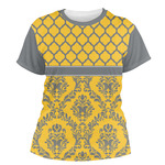 Damask & Moroccan Women's Crew T-Shirt (Personalized)