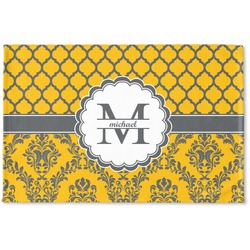 Damask & Moroccan Woven Mat (Personalized)