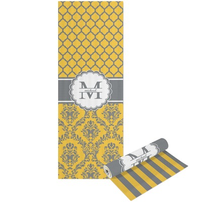 Damask & Moroccan Yoga Mat - Printable Front and Back (Personalized)