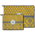 Damask & Moroccan Zipper Pouch (Personalized)