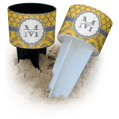 Damask & Moroccan Beach Spiker Drink Holder (Personalized)