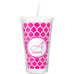 Moroccan Double Wall Tumbler with Straw (Personalized)