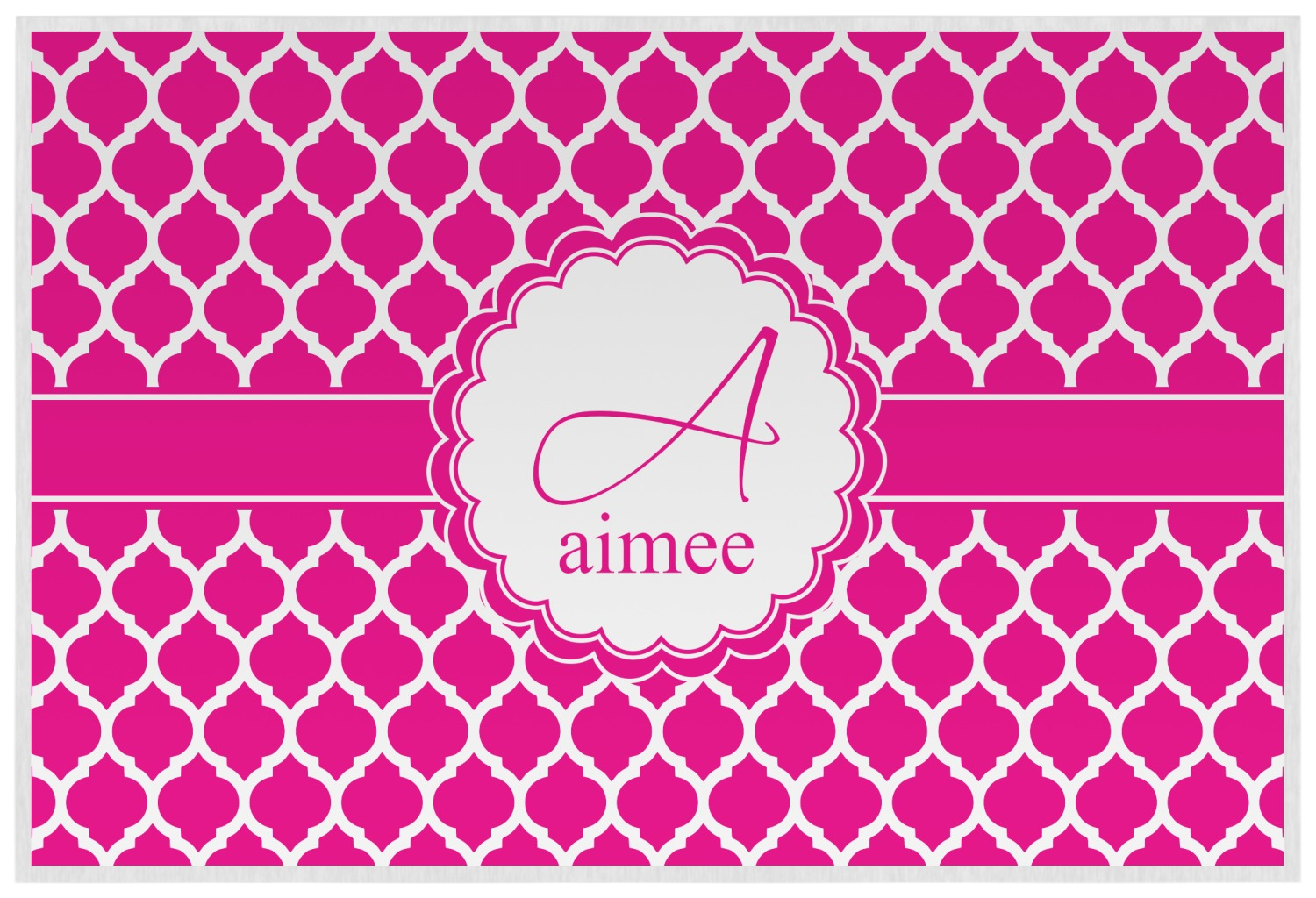 moroccan placemat laminated personalized youcustomizeit