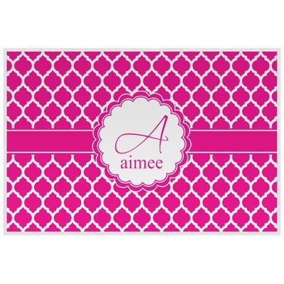 Moroccan Laminated Placemat w/ Name and Initial