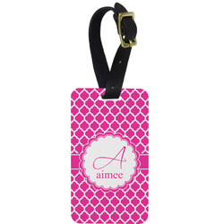 Moroccan Metal Luggage Tag w/ Name and Initial