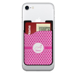 Moroccan 2-in-1 Cell Phone Credit Card Holder & Screen Cleaner (Personalized)