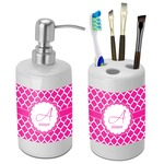 Moroccan Bathroom Accessories Set (Ceramic) (Personalized)