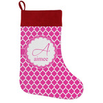 Moroccan Holiday Stocking w/ Name and Initial
