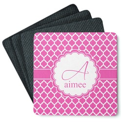 Moroccan 4 Square Coasters - Rubber Backed (Personalized)