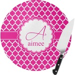 Moroccan Round Glass Cutting Board (Personalized)