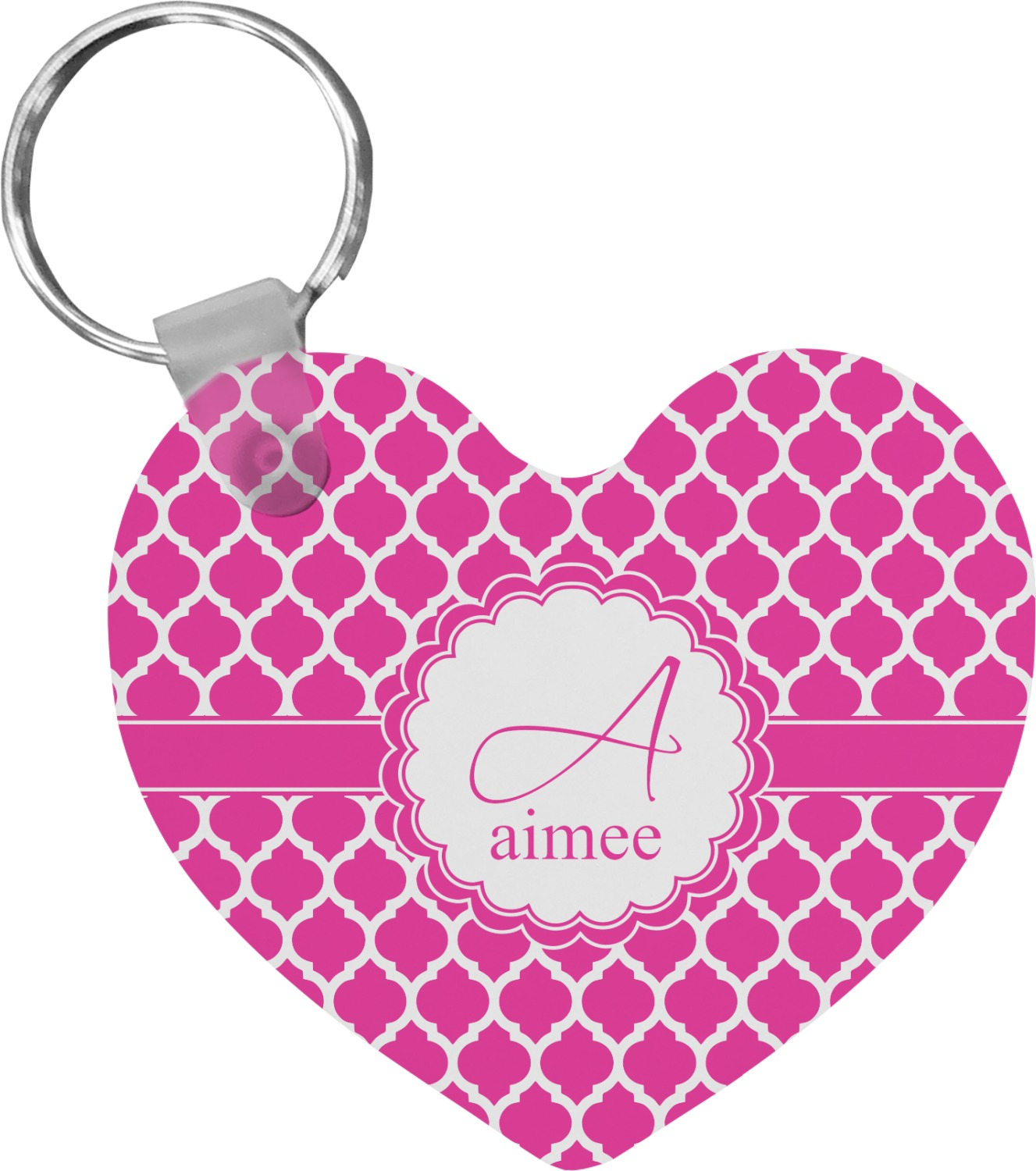 moroccan heart keychain personalized youcustomizeit