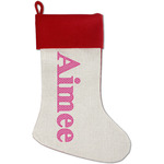 Moroccan Red Linen Stocking (Personalized)