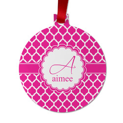 Moroccan Metal Ball Ornament - Double Sided w/ Name and Initial