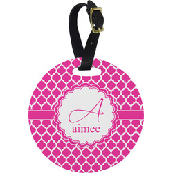 Moroccan Round Luggage Tag (Personalized)