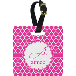 Moroccan Square Luggage Tag (Personalized)
