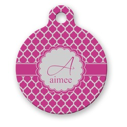 Moroccan Round Pet Tag (Personalized)