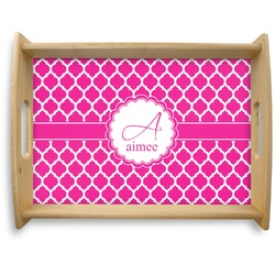Moroccan Natural Wooden Tray - Large (Personalized)