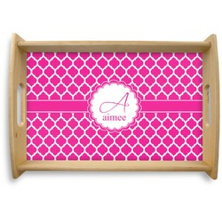 Moroccan Natural Wooden Tray (Personalized)