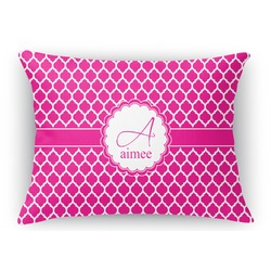 Moroccan Rectangular Throw Pillow Case (Personalized)