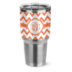 Chevron Stainless Steel Tumbler - 30 oz (Personalized)