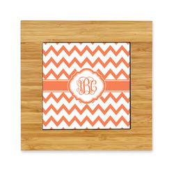 Chevron Bamboo Trivet with Ceramic Tile Insert (Personalized)