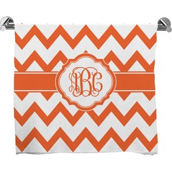 Chevron Full Print Bath Towel (Personalized)