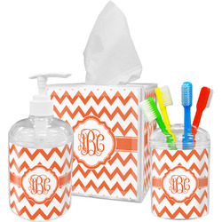 Chevron Bathroom Accessories Set (Personalized)