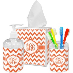 Chevron Acrylic Bathroom Accessories Set w/ Monogram